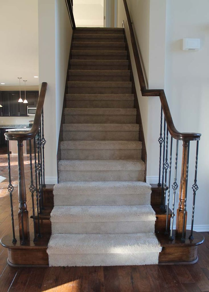 Best Volute On Both Sides Of Stairs No Metal Spindles Solid 400 x 300
