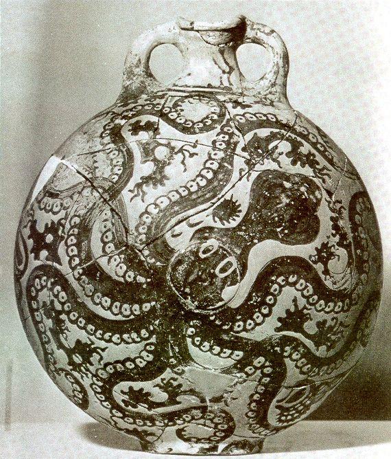Octopus Vase, Minoan, Palaikastro, Crete, c. 1500 BC
