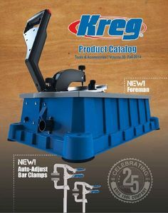 Download a copy of the latest Kreg Tool Product Catalog! It highlights all of our tools and products in the following categories: cutting and measuring, joining, clamping, routing, organization, education and apparel.