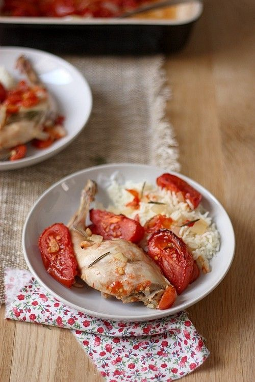 Cuisses de lapin à la tomate