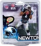 Cam Newton Manufacturer: McFarlane Toys Series: McFarlane Toys NFL Sports Picks Football Series 31 Action Figures Release Date: November 2012 For ages: 4 and up UPC: 787926756166 Details (Description): Cam Newton returns to the lineup with an all-new pose. The 2011 NFL Offensive Rookie of the year took the league by storm, setting countless rookie records, and became a fixture on ESPN. Catch him in NFL 31 wearing his Carolina Panthers black home uniform.