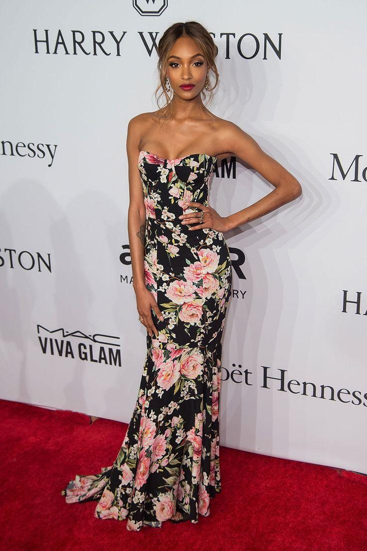 amfAR Gala 2016: Jourdan Dunn in a Dolce & Gabbana floral gown