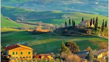 10 lukisan pemandangan pedesaan sederhana - 12 contoh