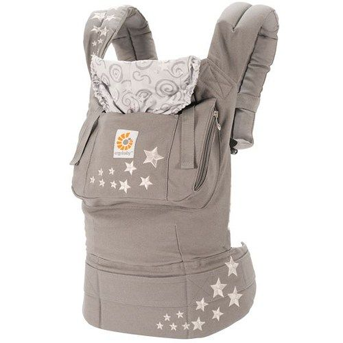 WORLDWIDE FREE SHIPPING  Discount Sale ErgoBaby Organic Galaxy Grey Baby Carrier with Box and Manual  Description Award-winning. Comfortable. Functional. This award-winning design holds your baby in a