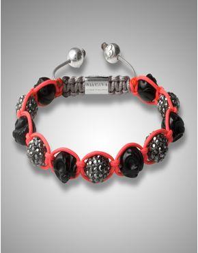 Agate Skull Black Bracelet