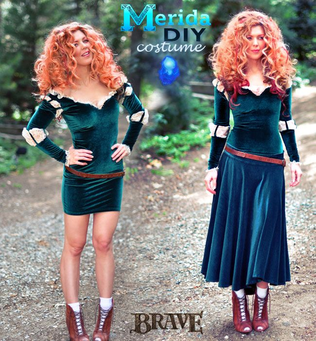 DIY Brave Costume, Princess Merida adult costume + Hair and Makeup!