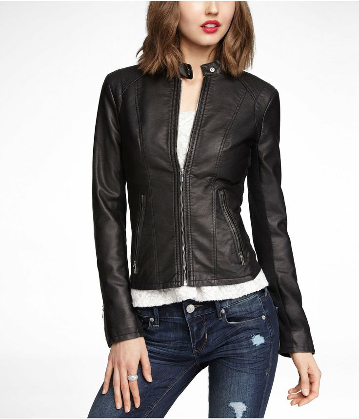Express leather jacket women