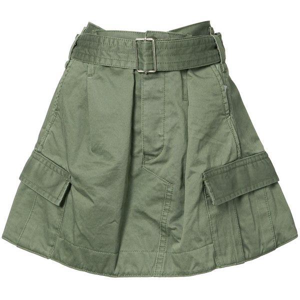 Marc Jacobs military skirt (€370) ❤ liked on Polyvore featuring skirts, green, marc jacobs, military skirts, marc jacobs skirt, green skirt and military green skirt