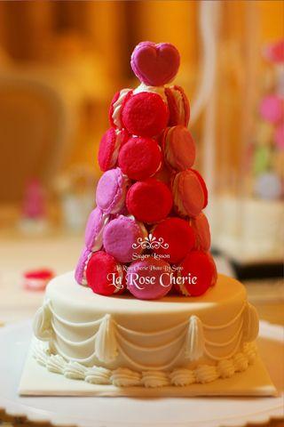 デコレーション教室 La Rose Cherie(ラ・ローズ・シェリー) -マカロンタワー(シュガークラフト)