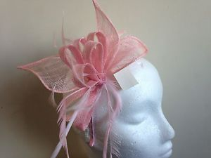 pale pink weddings | Details about Baby Pale Pink Fascinator Wedding Headband Hair ...
