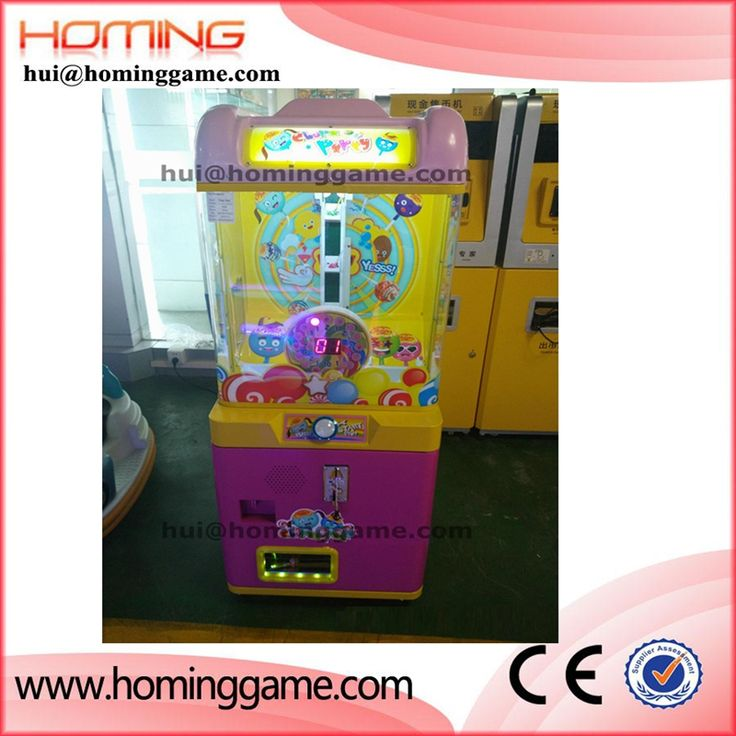 Newest sweet coin operated vending machine / small candy vending prize game machine  hui@hominggame.com Type:Small candy prize vending machine,Small crane game machine,candy machine for children,Standard export packing ,prize vending machine,vending machine,game machine,coin operated game machine,arcade game machine
