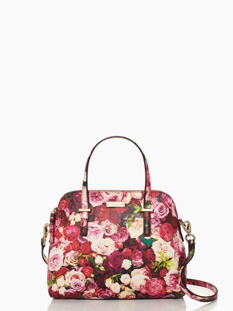 Cedar Street Floral Maise | roes pattern handbag | Kate Spade