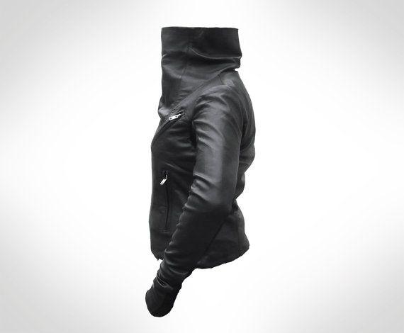 Custom Black Leather Biker Jacket by JOD by JODClothing on Etsy, €240.00