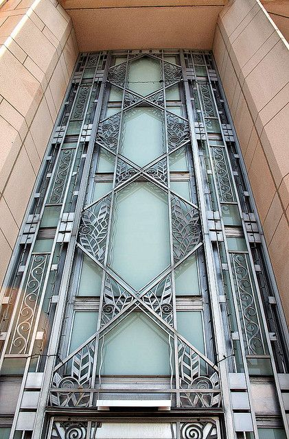 Art deco door by Something To See, via Flickr