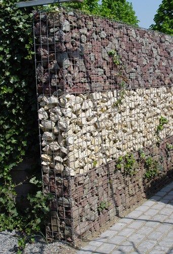 find this pin and more on gabion walls - Rock Wall Design