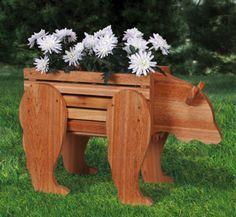 Bear Planter Woodworking Pattern