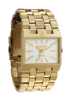 Thats The The Ticket in All Gold / White: Bracelets Men, Nixon Ticket, Nixon Watches, Gold Watches, Alicia Fashion, Dial Gold, Ticket Watches, Gold Metals, Men Watches