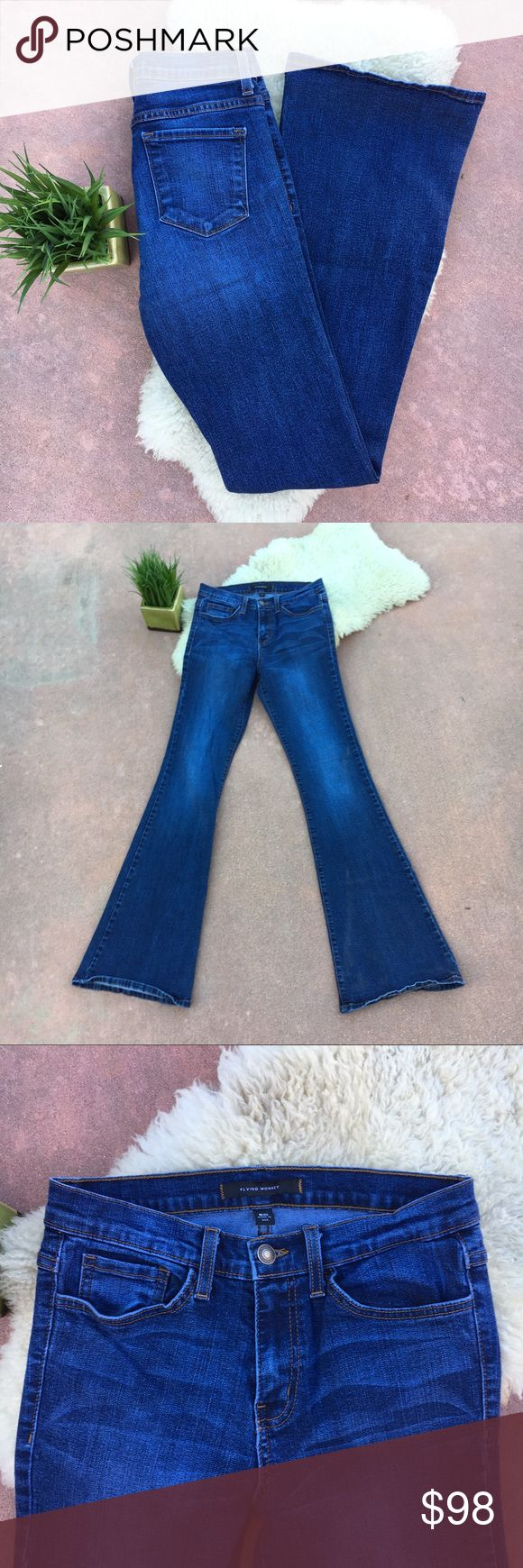 Flying Monkey Flare Bell Bottom Jeans 28 EUC! Close to new! Feminine, flirty and Retro chic! Bell bottom blue jeans! Measurements coming ASAP. Bundle and save. Offers warmly welcomed! Flying Monkey Jeans Flare & Wide Leg