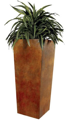 Tapered Style Metal Planter | Planterworx | Corten Steel, Stainless Steel  Aluminum Planters, Planter Boxes | Custom Metal Fabrication | Planterworx