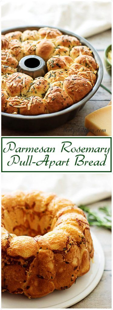 An elegant but simple pull-apart bread infused with the flavors of parmesan and rosemary, the perfect appetizer for your next holiday party. via @berlyskitchen