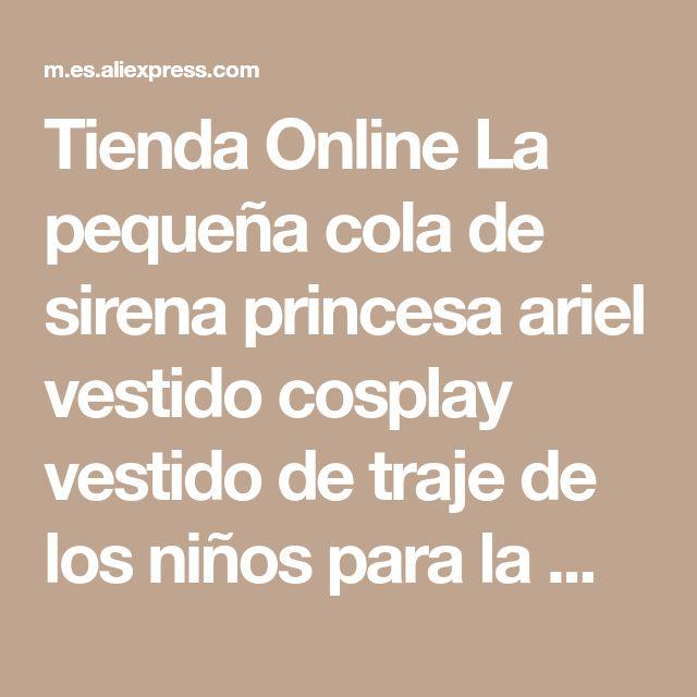 Tienda Online La pequeña cola de sirena princesa ariel vestido cosplay vestido de traje de los niños para la muchacha de lujo verde | Aliexpress móvil
