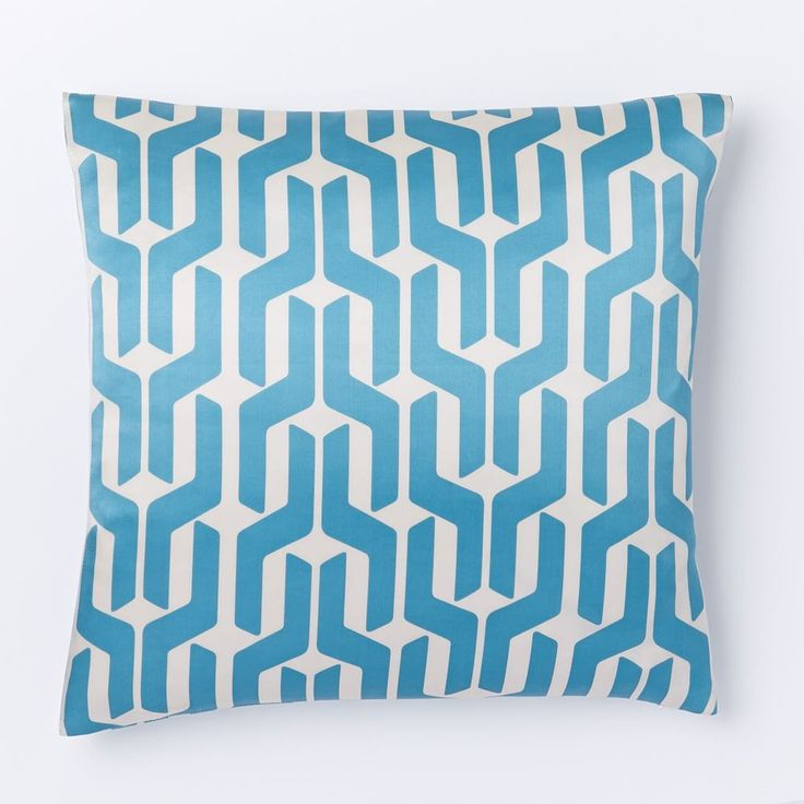 Silk Stacked Geo Cushion Cover - Larkspur
