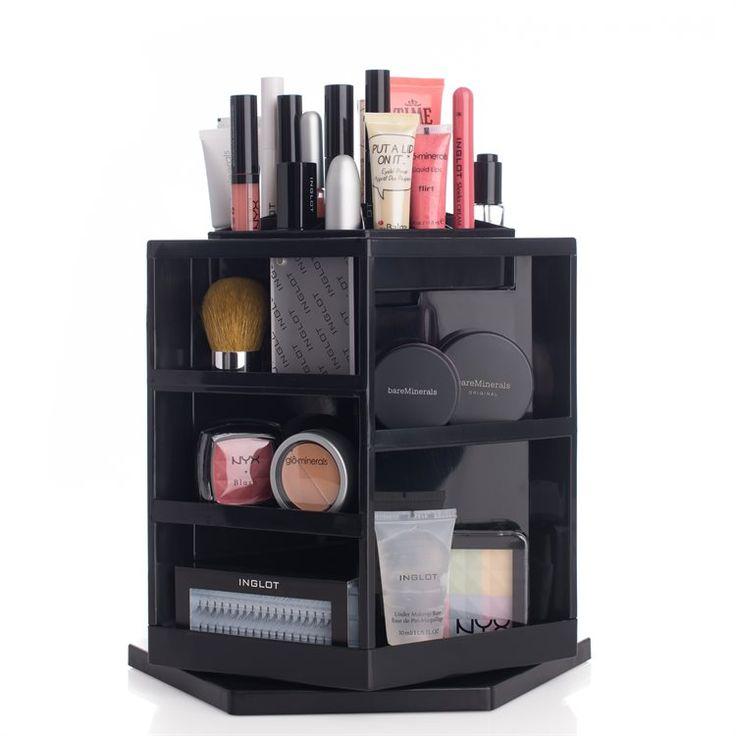 Shela`s Versatile Rotating Cosmetic Organizer - Black | Sveriges nya skönhetsbutik på nätet! ( har en)