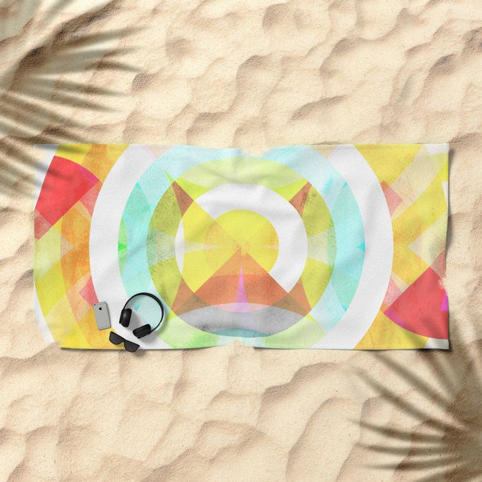 'Boxular' Beach Towel by Fimbis on Society6 Abstract, circular, circles, colourful, colourful, fashion, design, sandy, travel, style, adventure, sea side,