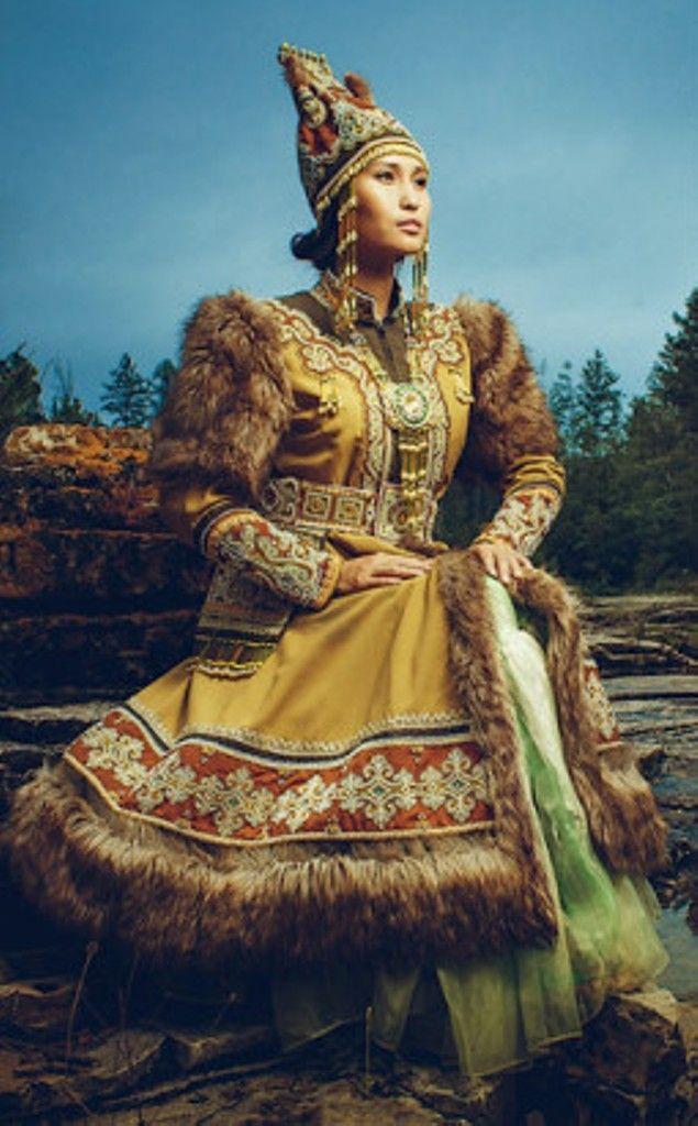Siberian national costumes Yakutia Russia