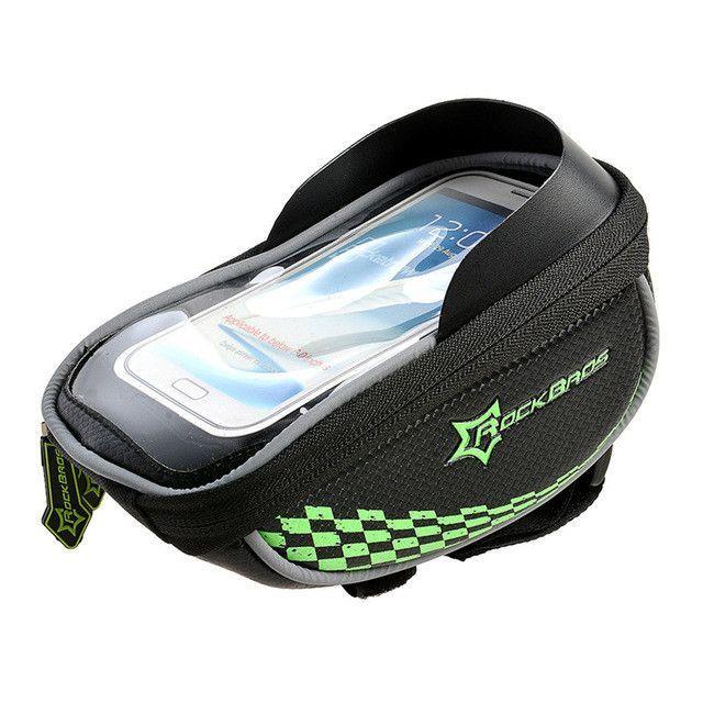 Rockbros Mtb Bike Bag 5.5'' Touchscreen Waterproof Phone Case Bicycle Handlebar Bag Cycling Front Top Tube Bag Cycle Accessories