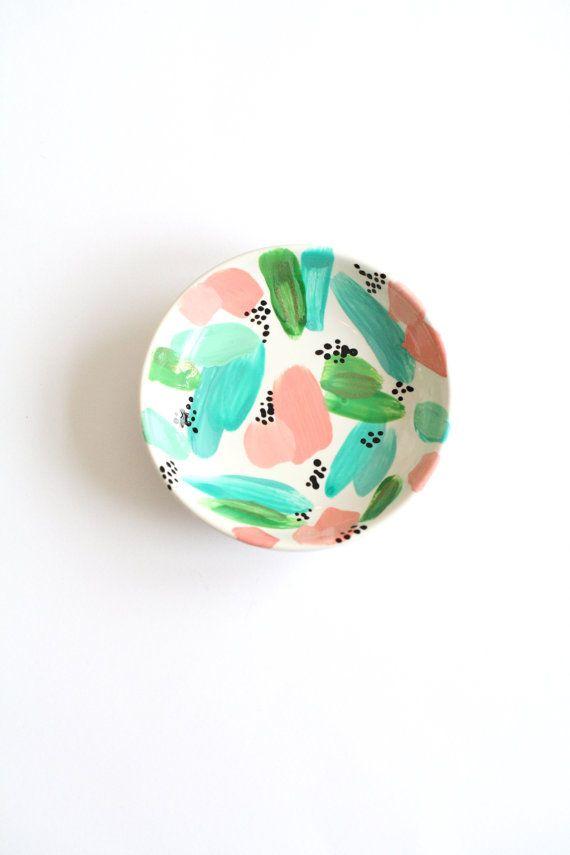 Brushstroke Ceramic Tea Bag Holder  Handmade Ring by Mahalolena