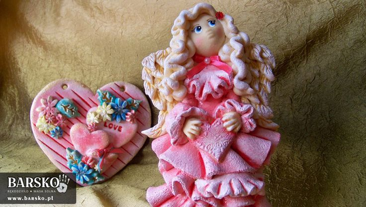 Salt Dough Angel for the St Valentine's Day