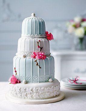 Marks and Spencer #wedding cake. Birdcage - Assorted Fruit, Sponge, Chocolate, Lemon