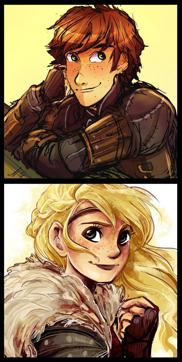 Collab: Hiccup + Astrid by AndytheLemon on deviantART