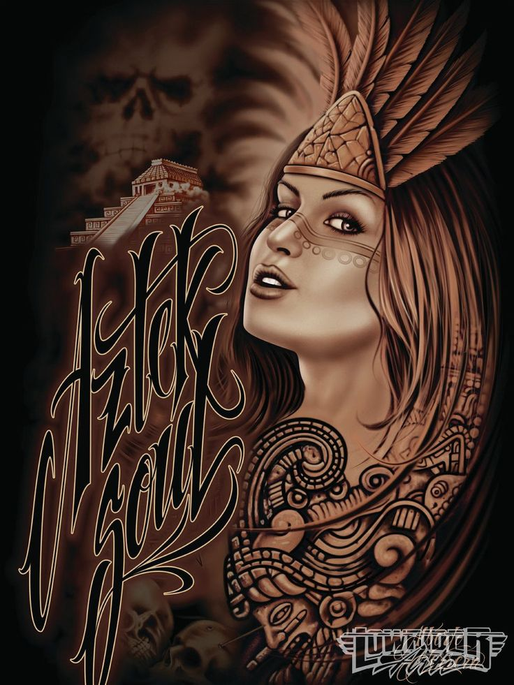 1000 images about alberto herrera arte on pinterest for Aztec mural tattoos