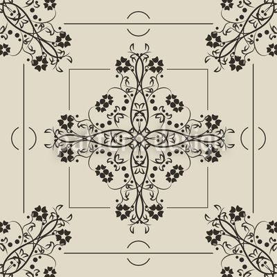 The gothic time period brought some great ornaments. They were mostly inspired by nature but with a strict geometrical order. This seamless pattern is a great example even if it was designed in our age:-) Designed by Richard Laschon, available as a download vector file on patterndesigns.com