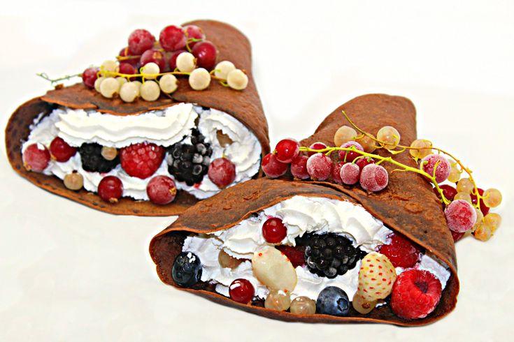 Clatite cu ciocolata si fructe de padure | Adygio Kitchen