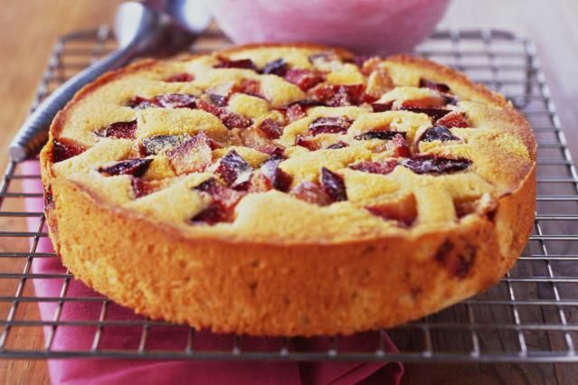 Plum cake is a favorite Polish dessert. It's quick and easy and uses fresh fruit. It can also be made with apples, nectarines or peaches.