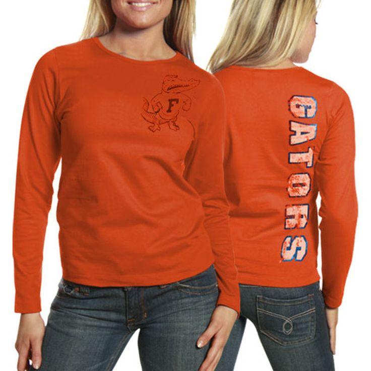 My U Florida Gators Women's Afterthought Long Sleeve Slim Fit T-Shirt - Orange