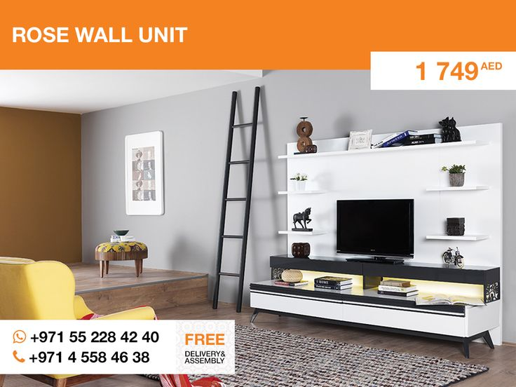 Sophisticatedly designed Rose #TV_unit looks impressively. That's a status thing made in Turkey. It creates a sublime atmosphere of high-class living (to increase the effect you may turn the artificial fireplace on the TV).  More details: http://gtfshop.com/rose-wall-unit