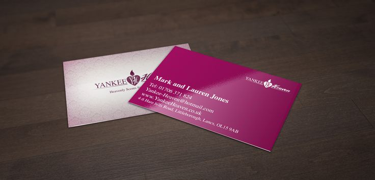 Business card design for Yankee Heaven. Simple but elegant.