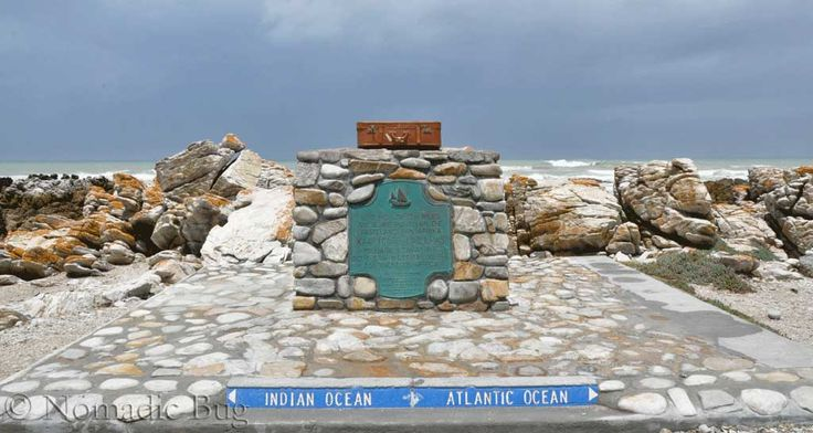 Where the ATLANTIC and INDIAN oceans meet, Cape Agulhas, South Africa  Landmarks Nomadic Existence