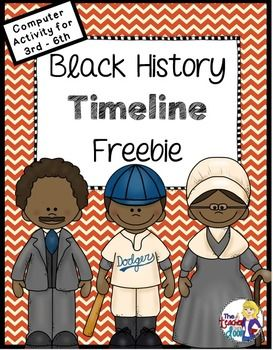 Freebie! Great one page computer activity. Students research an important African American and create a timeline using the computer.