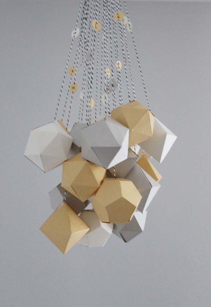 geometric advent calendar Du papier et des idées