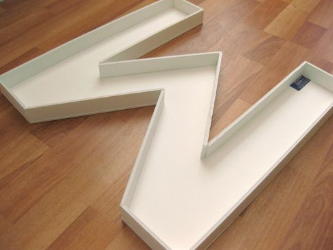 17 best images about diy letters on pinterest metals for Giant foam letters diy