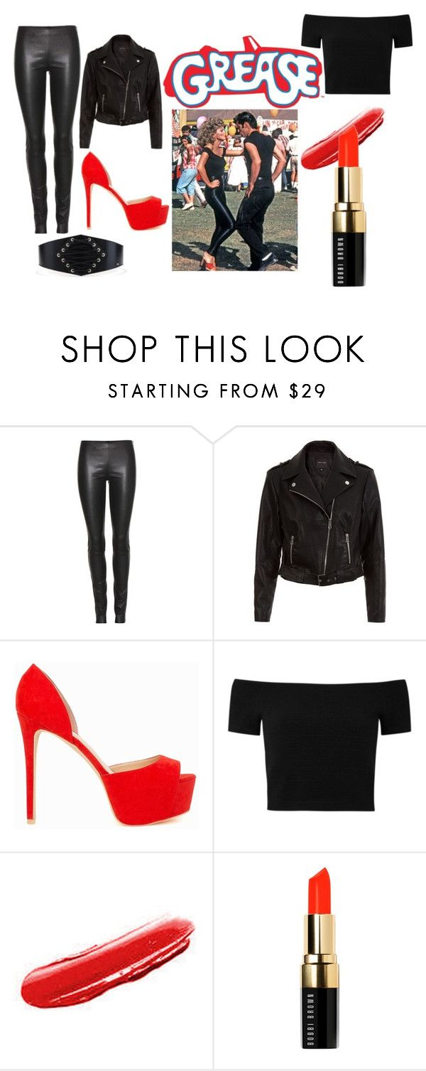 """""""Sandy, Grease outfit"""" by constanza-memeriz ❤ liked on Polyvore featuring The Row, New Look, Nly Shoes, Alice + Olivia and Bobbi Brown Cosmetics"""