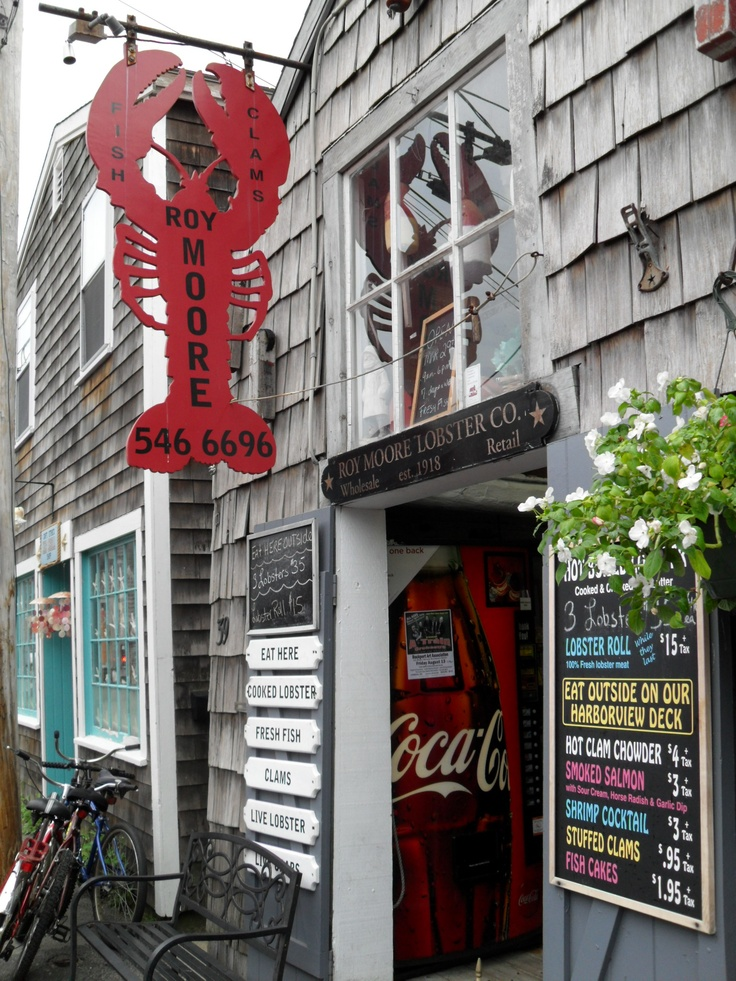 We had wonderful lobster on the deck at Roy Moores, Bearskin Neck, Rockport  MA