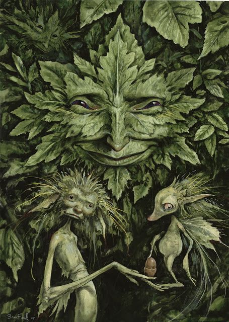 "The Greenman,Cernunnos/Herne the Hunter....By Artist and Author Brian Froud's ""Green Man""...:"