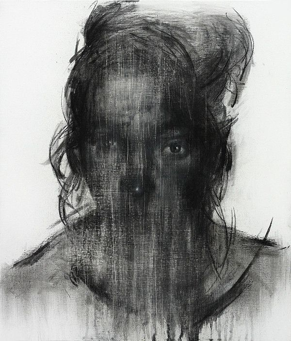 Charcoal on Canvas 2013 by KwangHo Shin