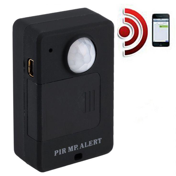1 Unidades mini monitor de alarma alerta sensor infrarrojo gsm inalámbrico pir motion detección venta caliente antirrobo motion detector enchufe de la ue